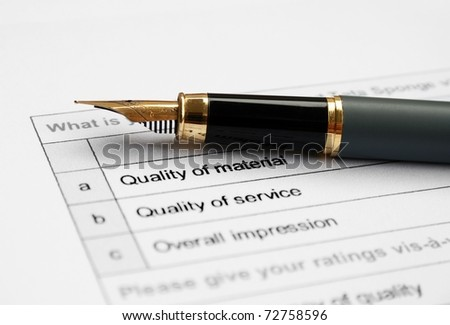 Quality survey - stock photo