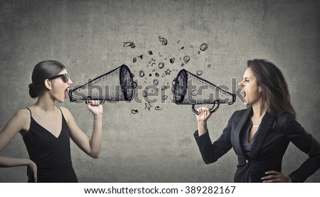 Quarrel between women - stock photo
