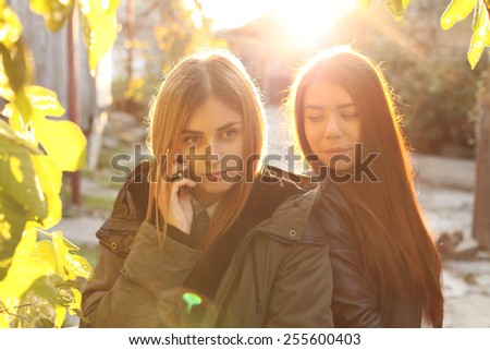 Quarrel friends.  - stock photo