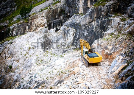quarry in the marble cave - stock photo