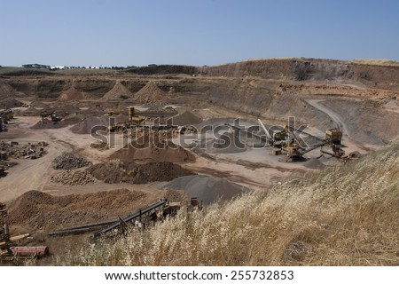 quarry inert materials, for the construction industry  - stock photo