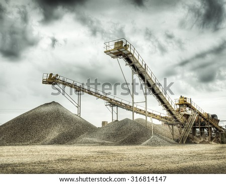 quarry stones for construction - stock photo