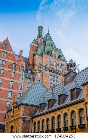 Quebec City, Canada - Chateau Frontenac - stock photo