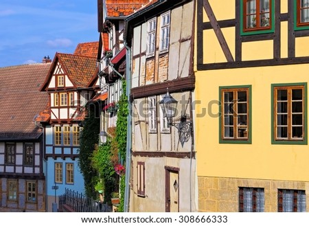 Quedlinburg old town  - stock photo