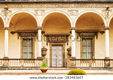 Queen Anne's Summer Palace in Prague - stock photo