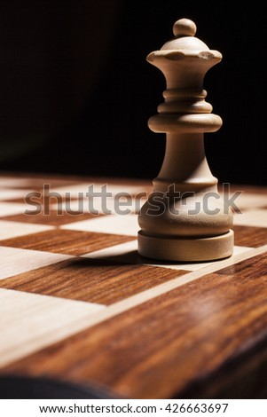 queen - chess piece - stock photo