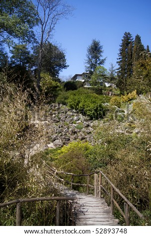 Queen Maria castle Gardens - stock photo