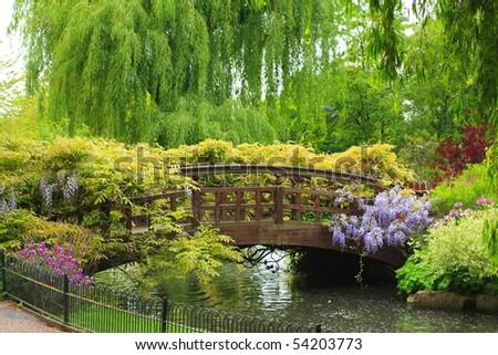 Queen Mary's Garden, London - stock photo