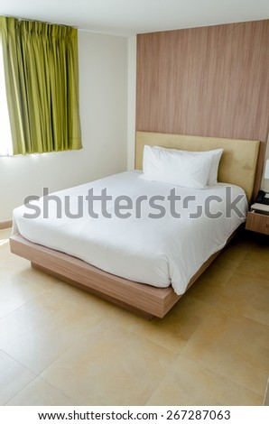 Queen Master Bedroom, Interior Shot of a House - stock photo
