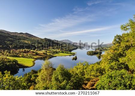 Queen's View at Loch Tummel - Scotland, UK  - stock photo