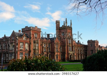 Queens's University Belfast - stock photo