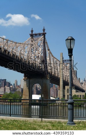 Queensborough Bridge in Midtown Manhattan. New York City, USA. - stock photo