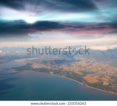 Queensland coast, aerial view - Australia. - stock photo