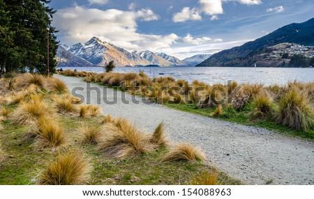 Queenstown Park, Queenstwon, New Zealand - stock photo