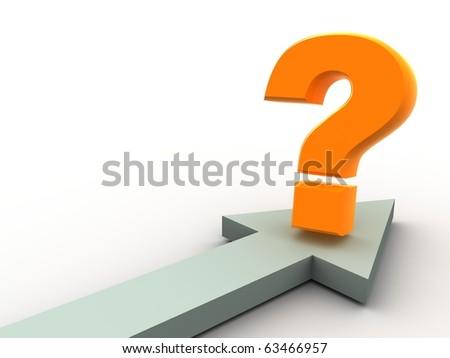 question. 3d - stock photo