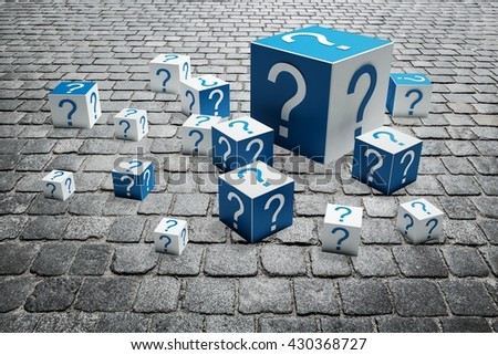 Question Mark. - stock photo