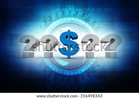 question mark and dollar currency symbol - stock photo