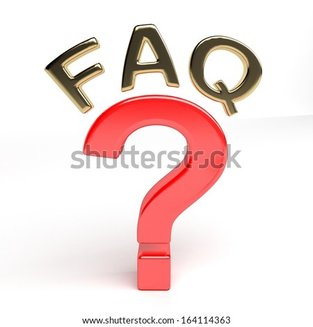 Question mark and FAQ - stock photo