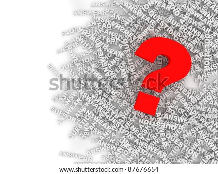 Question Mark Background with place for your text - stock photo