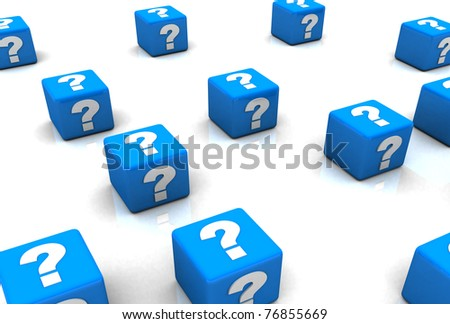 Question mark box - stock photo