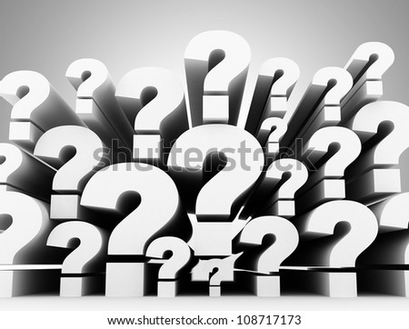 Question mark 3d background - stock photo