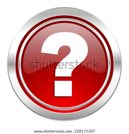 question mark icon, ask sign - stock photo