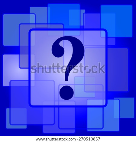 Question mark icon. Internet button on abstract background.  - stock photo