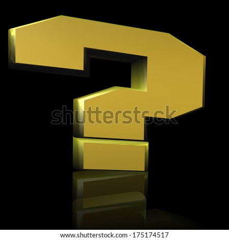 Question Mark in 3D - stock photo