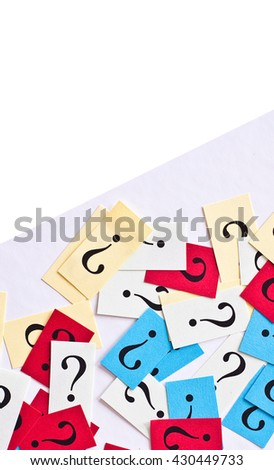 question mark on ancient paper texture - symbol for frequently asked questions, - stock photo