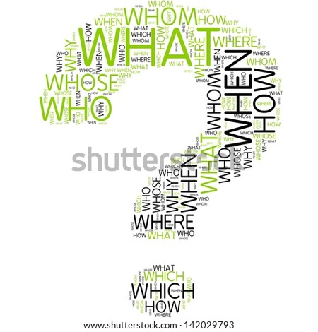 question mark | Word Art - stock photo