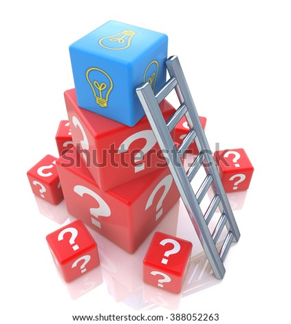 Question of creation concept idea in designing the information related to the abstraction - stock photo