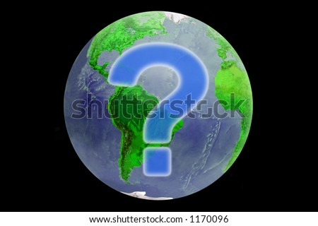 Question planet - stock photo