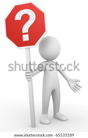 Question sign - stock photo