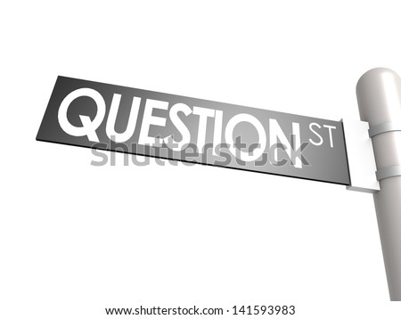 Question street sign - stock photo