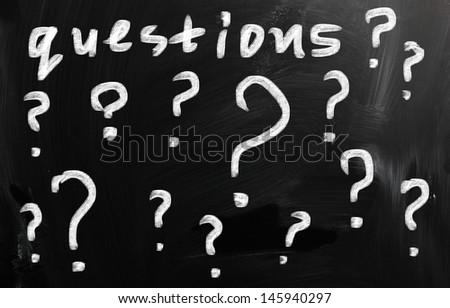 Question written on chalkboard - stock photo