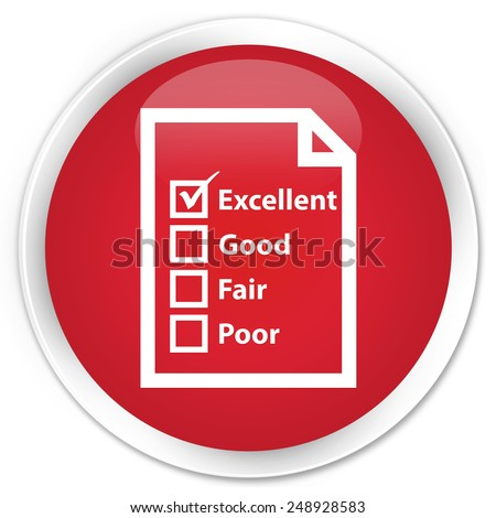 Questionnaire icon red glossy round button - stock photo