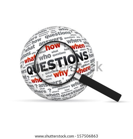 Questions - stock photo