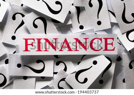 Questions about the Finance , too many question marks - stock photo