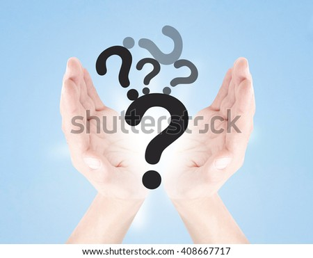Questions as a concept - stock photo