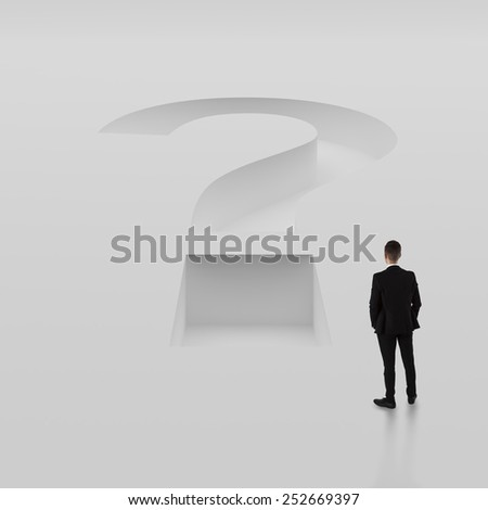 Questions thinking business concept - stock photo