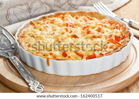 Quiche pie  - stock photo