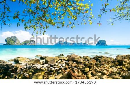 Quiet Getaway Cozy Landscape  - stock photo
