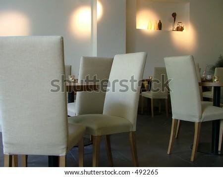 quiet lounge interior - stock photo