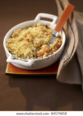 Quince crumble - stock photo
