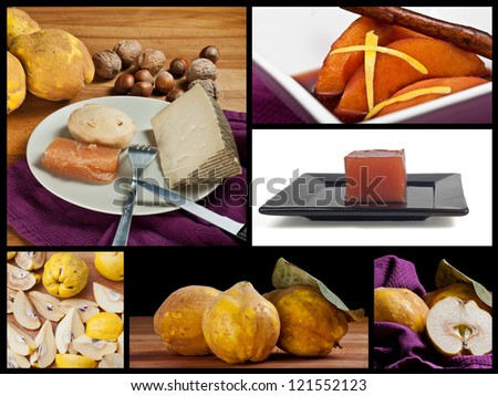 Quinces collage - stock photo