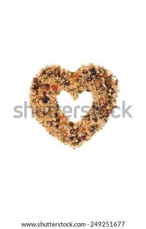 Quinoa granola on white background - stock photo