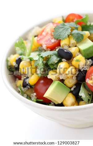 quinoa salad, vegetarian food - stock photo