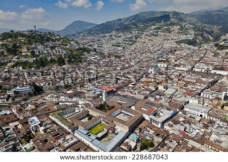 Quito colonial World Cultural Heritage,  - stock photo