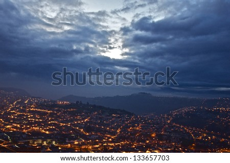 Quito, Ecuador capital - stock photo