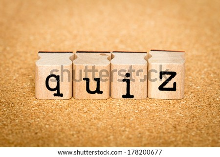 Quiz - Alphabet Stamp Concepts - stock photo